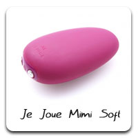 Je-Joue Mimi Soft: You can also consider the Mimi regular, but I think the vibrations travel a little bit better through that soft tip. Versatile, works for all bodies, silky smooth silicone.
