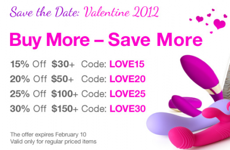 EdenFantasys Valentine's Day Sale Codes