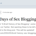 A Brief History of Sex Blogging