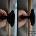 Tantus Suction Cup - Showing before and after suction on a window