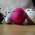 The Secret Vibe Remote Control Vibrator by Marc Dorcel is larger than I expected. To show a size comparison, first there is the Doc Johnson Black Magic Bullet vibe, the We-Vibe Salsa, the Secret Vibe and then the Lelo Luna Beads Classic