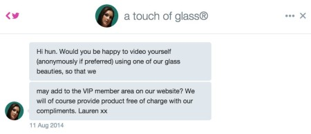 TouchofGlasssolicitation