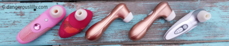Womanizer vs Satisfyer - a line up of the 3 Womanizer models and the Satisfyer Pro 2