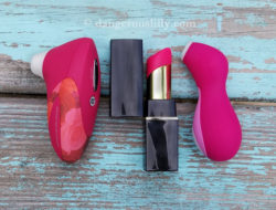 Size comparison of the Womanizer W500, Womanizer 2GO and Satisfyer Pro Penguin